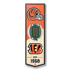 "Officially Licensed NFL 6"" x 19"" 3D Stadium Banner- Cincinnati Bengals"