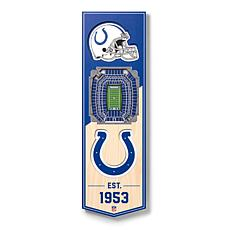 "Officially Licensed NFL 6""x19"" 3-D Stadium Banner - Indianapolis Colts"