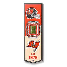 Officially Licensed NFL 6x19 3-D Stadium Banner - Tampa Bay Buccaneers