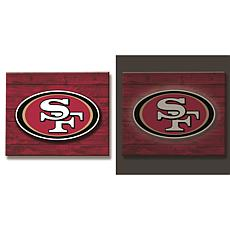 Officially Licensed NFL Backlit Wood Plank Wall Sign - 49ers