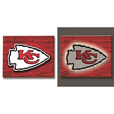 Officially Licensed NFL Backlit Wood Plank Wall Sign - Chiefs