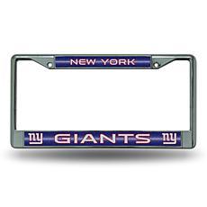 Officially Licensed NFL Bling Chrome Frame - Giants