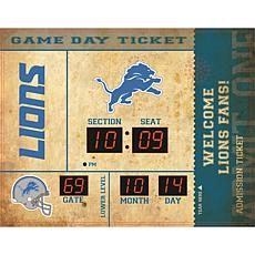 Officially Licensed NFL Bluetooth Scoreboard Wall Clock - Lions