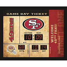 Officially Licensed NFL Bluetooth Scoreboard Wall Clock - 49ers