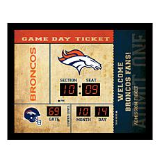 Officially Licensed NFL Bluetooth Wall Clock - Broncos