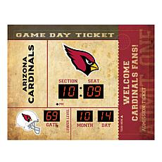 Officially Licensed NFL Bluetooth Wall Clock - Cardinals