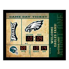 Officially Licensed NFL Bluetooth Wall Clock - Eagles