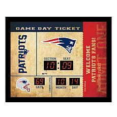 Officially Licensed NFL Bluetooth Wall Clock - Patriots