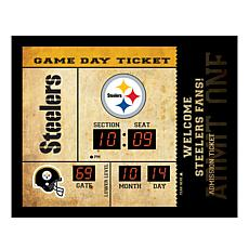 Officially Licensed NFL Bluetooth Wall Clock - Steelers