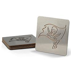 Officially Licensed NFL Boasters 4-Piece Coaster Set - TB Buccaneers