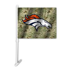Officially Licensed NFL Camo Car Flag - Broncos