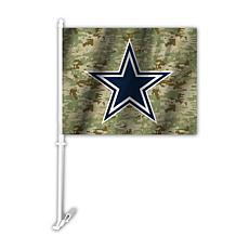 Officially Licensed NFL Camo Car Flag - Cowboys
