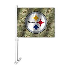 Officially Licensed NFL Camo Car Flag - Steelers