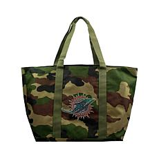 Officially Licensed NFL Camo Tote - Dolphins