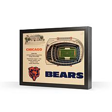 Officially Licensed NFL Chicago Bears 25-layer StadiumView 3D Wall Art