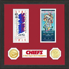 Officially Licensed NFL Chiefs 2-Time SB Champs Ticket Collection