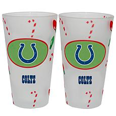 Officially Licensed Nfl Christmas Day 16 Oz Pint Glass 2pk Colts