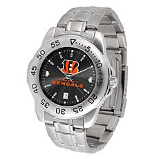 Officially Licensed NFL Cincinnati Bengals Sport Steel Series Watch