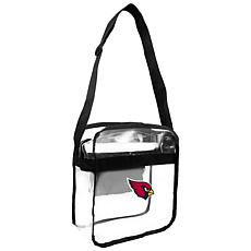 Officially Licensed NFL Clear Carryall Crossbody - Cardinals