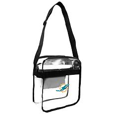 Officially Licensed NFL Clear Carryall Crossbody - Dolphins