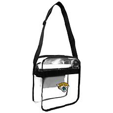 Officially Licensed NFL Clear Carryall Crossbody - Jaguars