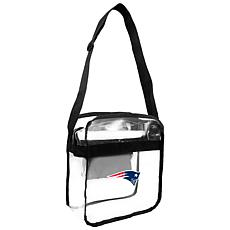 Officially Licensed NFL Clear Carryall Crossbody - Patriots