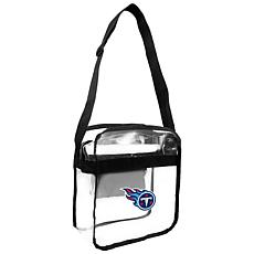 Officially Licensed NFL Clear Carryall Crossbody - Titans