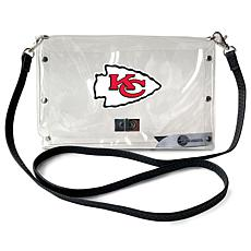 Officially Licensed NFL Clear Envelope Purse - Chiefs