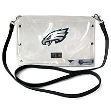 Officially Licensed NFL Clear Envelope Purse - Eagles