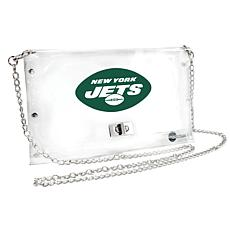 Officially Licensed NFL Clear Envelope Purse - Jets