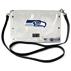 Officially Licensed NFL Clear Envelope Purse - Seahawks