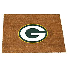 Officially Licensed NFL Colored Logo Door Mat - Packers