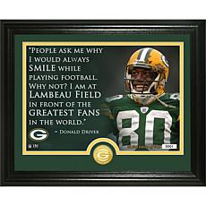 "Officially Licensed NFL Donald Driver ""Quote"" Bronze Coin Photo Mint"