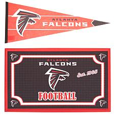 Officially Licensed NFL Doormat and Pennant Set