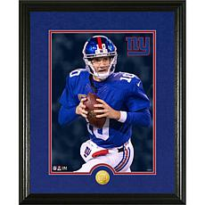 Officially Licensed NFL Eli Manning Gold Coin Canvas Photo Mint