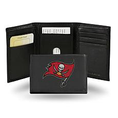 Officially Licensed NFL Embroidered Leather Trifold - Buccaneers