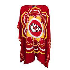 "Officially Licensed NFL ""Flower"" Caftan - Kansas City Chiefs"