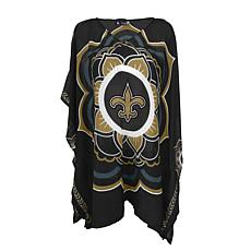 "Officially Licensed NFL ""Flower"" Caftan - New Orleans Saints"