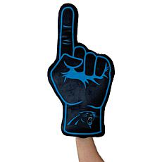 Officially Licensed NFL Foam Finger Plush Pillow - Carolina Panthers