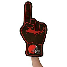 Officially Licensed NFL Foam Finger Plush Pillow - Cleveland Browns