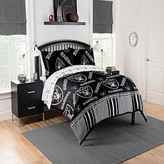 Officially Licensed NFL Full Bed in a Bag Set - Oakland Raiders