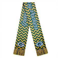 Officially Licensed NFL Glitter Chevron Scarf by Team Beans