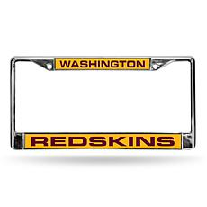 Officially Licensed NFL Gold/Maroon Laser-Cut Chrome License Plate ...