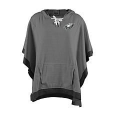42dca666 Officially Licensed NFL Heathered Hoodie Poncho - Philadelphia Eagles