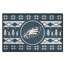 Officially Licensed NFL Holiday Sweater Starter Mat- Eagles
