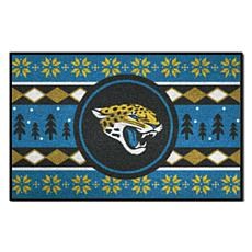 Officially Licensed NFL Holiday Sweater Starter Mat- Jaguars