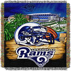 Officially Licensed NFL Home Field Advantage Throw Blanket - Rams