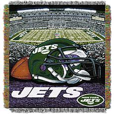 Officially Licensed NFL Home Field Advantage Throw Blanket - Jets