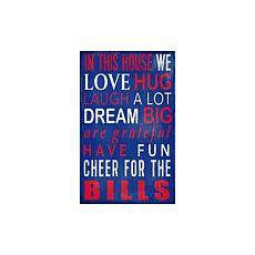 Officially Licensed NFL In This House Sign - Buffalo Bills
