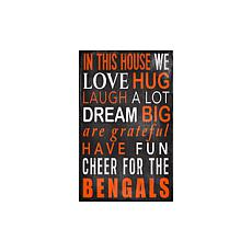Officially Licensed NFL In This House Sign - Cincinnati Bengals
